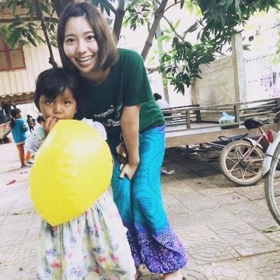 カンボジアでチャイルドケア 勝田さくら